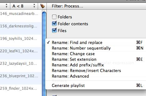 File List 1.2 does file renaming for free