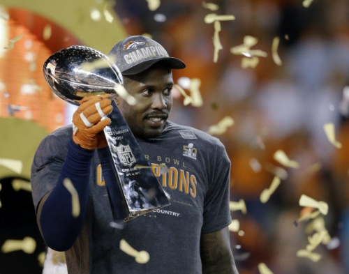 A source confirmed to Yahoo Sports that the FBI also recovered and have examined a helmet appearing to belong to Denver Broncos linebacker Von Miller, the MVP of Super Bowl 50. (AP)
