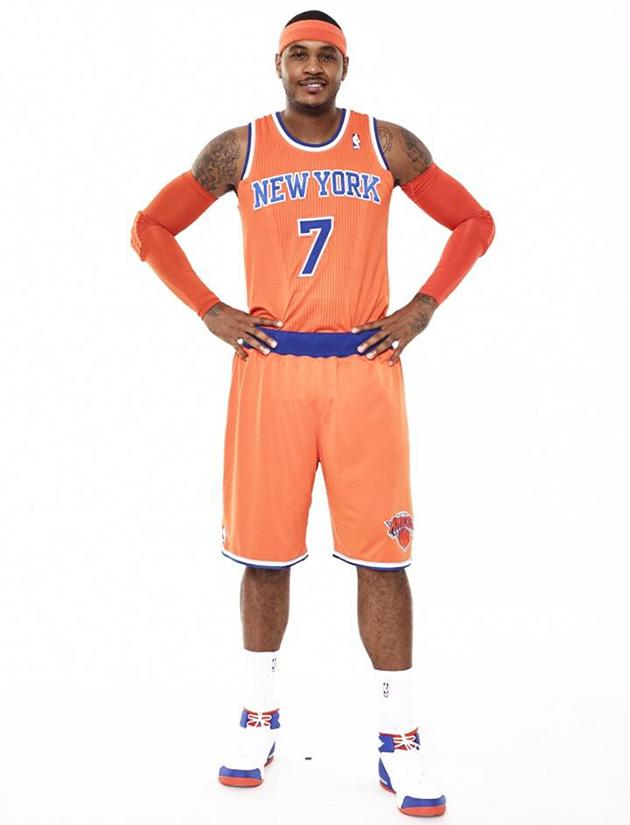 new products 05cc4 59878 Here are the New York Knicks' new orange alternate uniforms ...