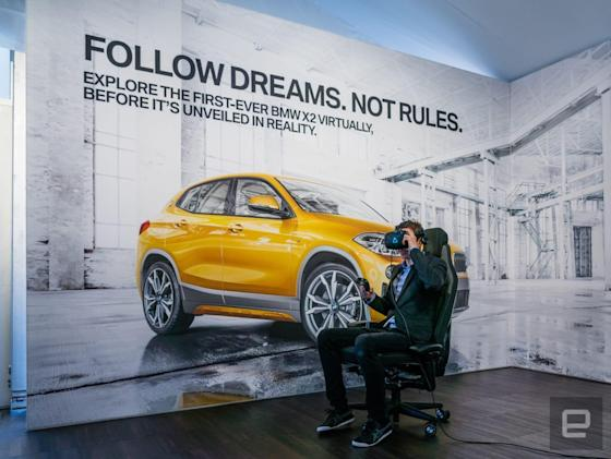 BMW used virtual reality to bring its latest crossover SUV to CES