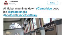 Fury across UK as train and tram ticket machines reject card payments