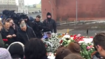 Mourners Gather at Scene of Nemtsov Shooting