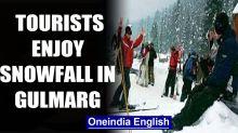 Gulmarg, J&K: Tourists rejoice snowfall, skiers showcase skill