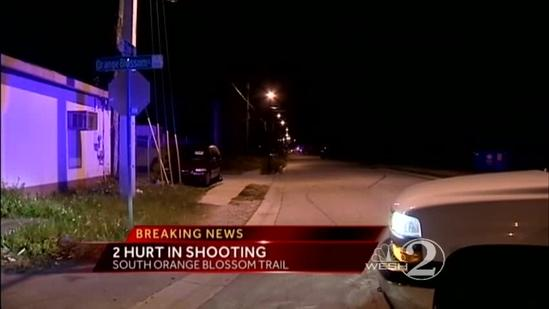 Officials seek suspects in double shooting
