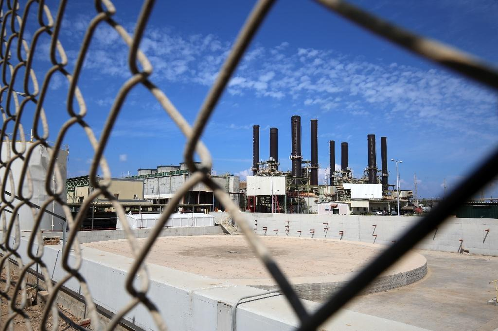 The Gaza Strip's sole power plant in Nuseirat (AFP Photo/SAID KHATIB)