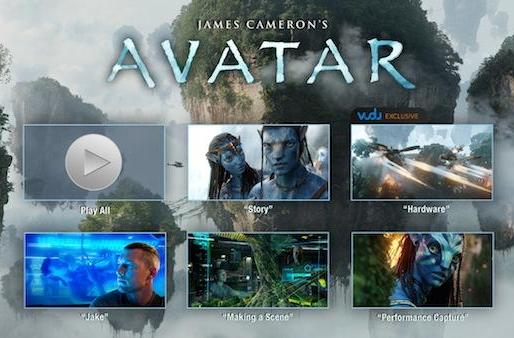 Vudu starts offering special features with Avatar