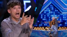 'X Factor UK' singer falls off stage after performance