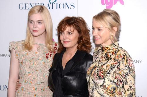 Elle Fanning,Susan Sarandon, and Naomi Watts.