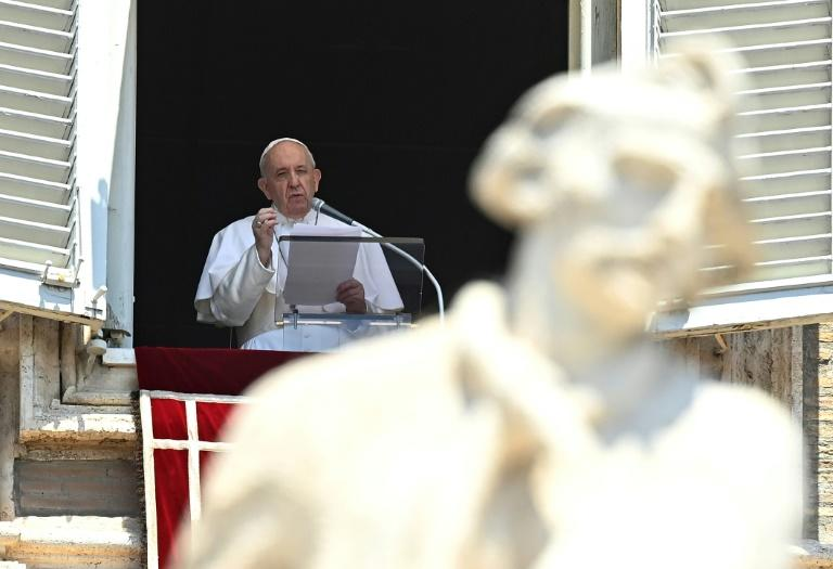 Pope Francis made his comments about the Hagia Sophia at the end of his Sunday Angelus prayer Saint Peter's square (AFP Photo/Vincenzo PINTO)