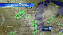 Spotty AM showers will give way to lower humidity