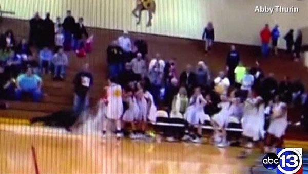 Basketball celebration gone wrong