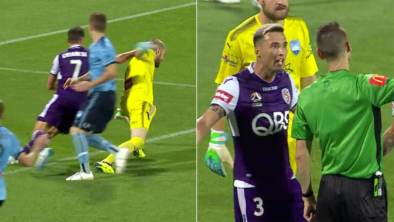 A League Football Perth Glory Fans Fume Over Disallowed