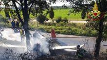 Cade ultraleggero a Bergamo, muore ragazza di 15