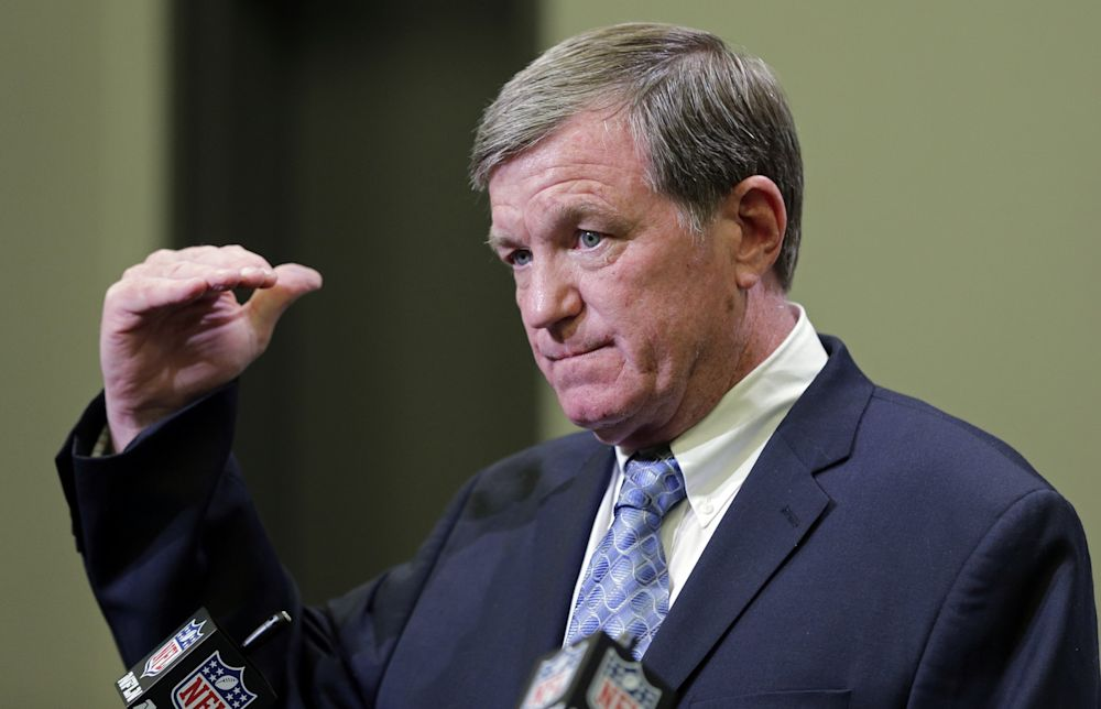 Back to work: In his first full day as Panthers interim GM, Marty Hurney made two transactions that impact the offensive line. (AP)