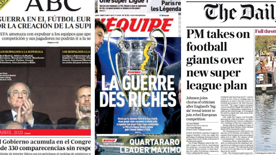 'War of the rich': How the world reacted to European Super League launch