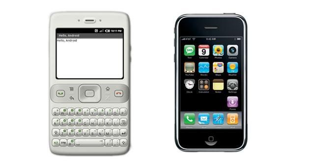 Before the iPhone was announced, Android didn't support touchscreen input