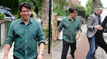 Michael McIntyre sports new Rolex and bodyguard after violent car heist