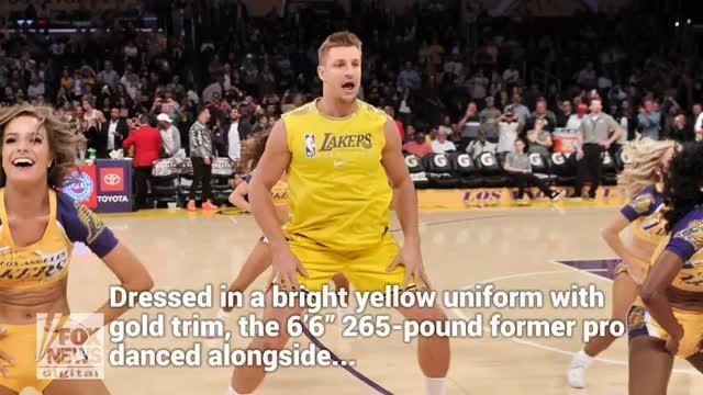 Ex New England Patriots Rob Gronkowski Makes Los Angeles Lakers Debut At Halftime Show
