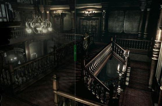 Compare this Resident Evil remake screen to this one