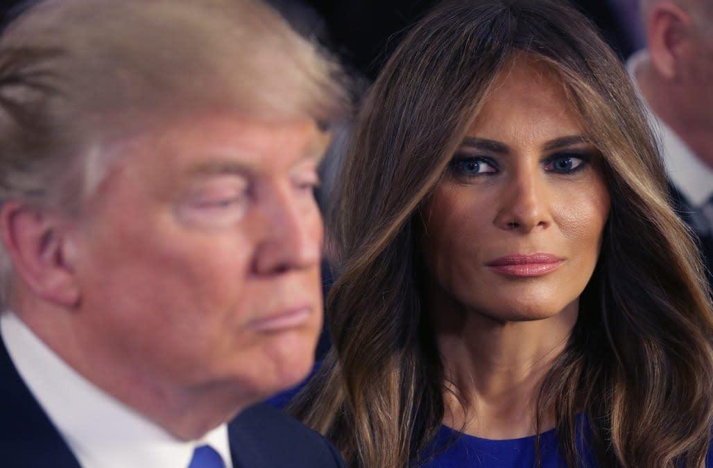 Anti-Donald Trump ads criticize Melania Trump for nude