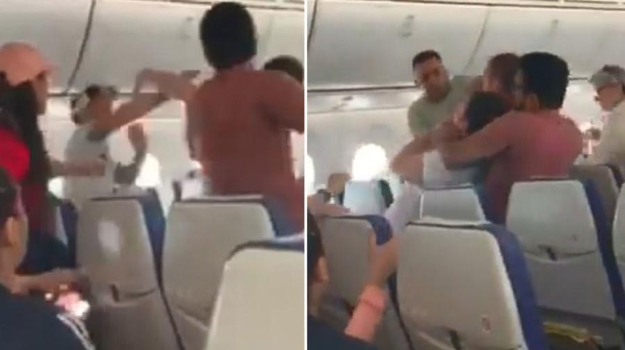 Flight diverted after 'drunk passenger' starts brawl on packed plane