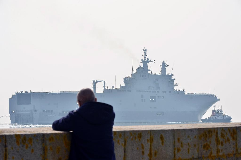 Most countries with the money and desire to buy boats of the size of the Sevastopol, pictured here on its way to its first sea trials, have their own ship-building industries (AFP Photo/Georges Gobet)