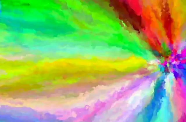 Animated code art uses all of its colors just once
