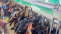 Perth Commuters Tilt Train to Save Trapped Man