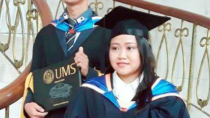 Despite life of tragedy, UMS graduate overcomes odds to achieve academic dream