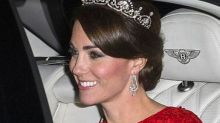 Kate Middleton Wears Bespoke Jenny Packham & Lotus Flower Tiara to State Banquet