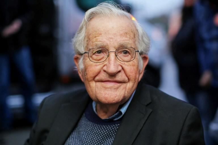 "For two months the influential scholar Noam Chomsky has been confined in Tucson with his Brazilian wife Valeria, his dog and a parrot who can say ""sovereignty"" in Portuguese"