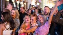 Revellers pack streets of central London ahead of new 'rule of six' coronavirus restrictions
