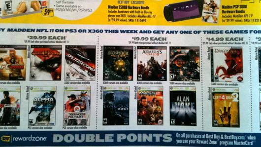 Buy Madden at Best Buy, get a (select) 360 or PS3 game half off