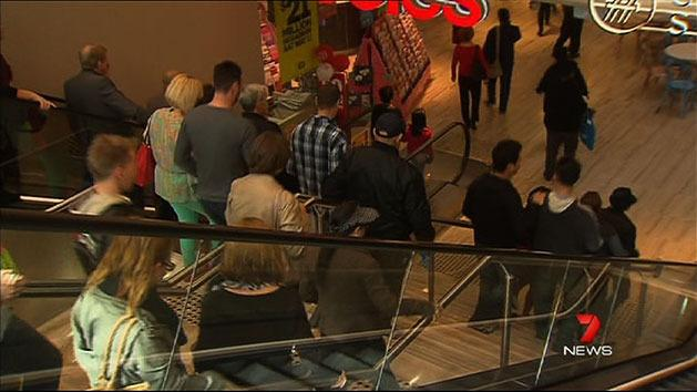 Shoppers hit city for Anzac Day