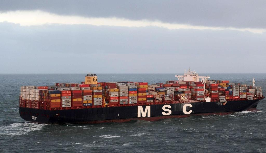 The MSC Zoe is one of the world's largest container vessels