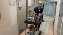 Enfermeira cria despensa comunitária para ajudar os colegas