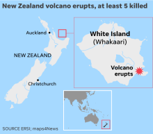 Newlyweds burned by volcanic eruption on New Zealand honeymoon cruise