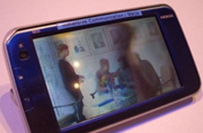 Nokia's 3D N810 Internet Tablet caught on blurrycam