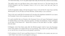 Boris Johnson requests Brexit delay after Commons defeat - but urges EU to reject it