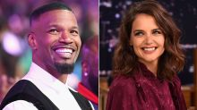 Jamie Foxx and Katie Holmes Spotted Holding Hands on the Beach in Extremely Rare PDA Pics