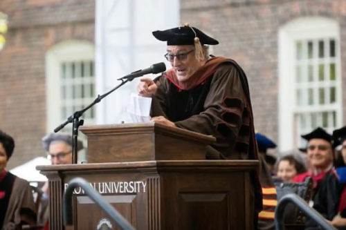 Robert De Niro blasted the current state of American affairs while speaking at Brown University. (Photo: The Wrap News)