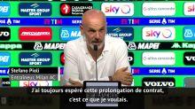 Milan AC - Pioli se réjouit de la prolongation de son contrat