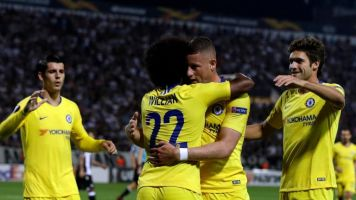PAOK vs Chelsea: Willian and Pedro lead the way as Maurizio Sarri opts for strength in Europa League