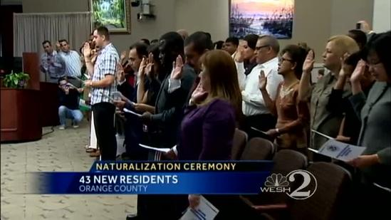 43 Central Florida residents take oath to become U.S. citizens