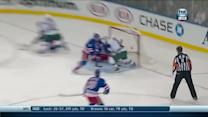 Suter sets up Pominville through the crease