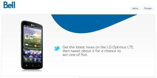 Bell confirms arrival of LG Optimus LTE, hasn't settled on a name
