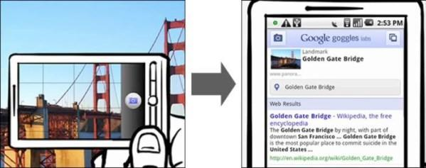 Google Goggles brings visual search to Android; Favorite Places brings QR codes to restaurant reviews