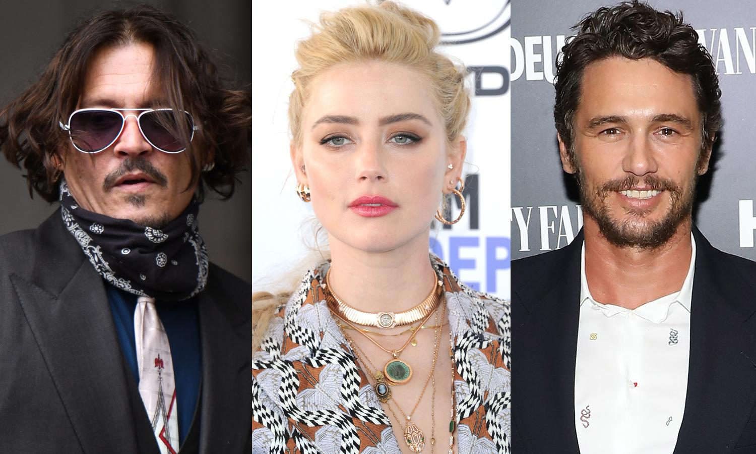 Johnny Depp denies abusing Amber Heard in a 'blind rage' over 'creepy' James Franco - Yahoo Entertainment