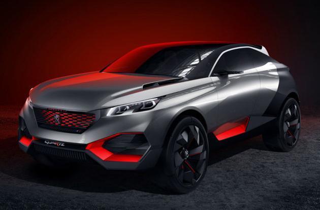 Peugeot's new hybrid concept is half SUV, half sports car