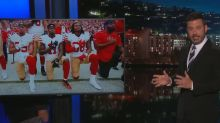 If NFL players kneeling during the anthem upsets you, Jimmy Kimmel has the solution